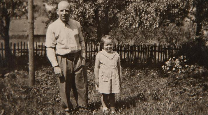 Firmengründer Hermann Wetzel mit Tochter Ingeborg